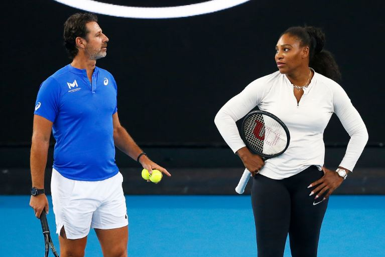 Serena Williams and coach
