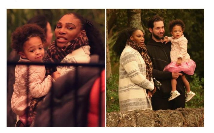 Serena Williams and family snap