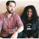 Serena Williams and husband sit