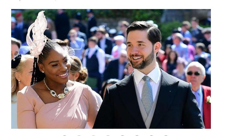 Serena Williams and husband smile
