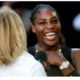 Serena Williams opened mouth
