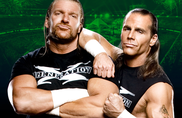 Triple H and shawn michael