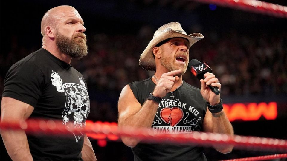 Triple h and shawn michael speaking