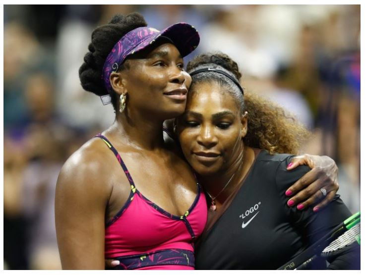Venus Williams with Serena Williams