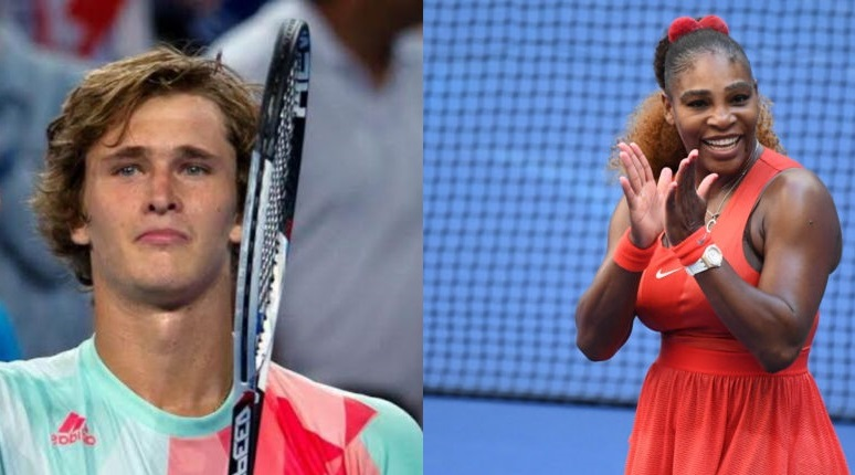 Alexander Zverev and serena williams