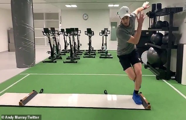 Andy Murray puts in work during off season with quirky exercise