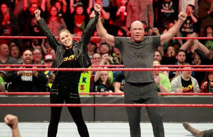 Ronda Rousey and Kurt Angle