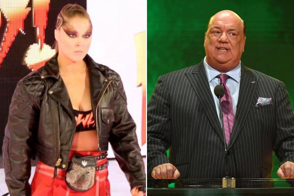 Ronda Rousey and Paul Heyman