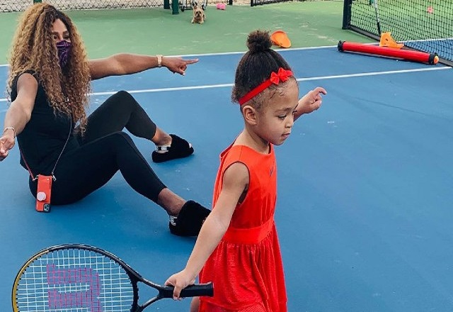 Serena Wiiliams and daughter