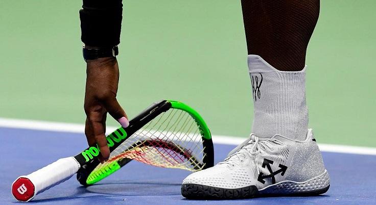 Serena Williams Racket smashed