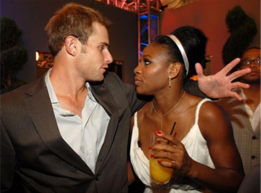 Serena Williams and Andy Roddick