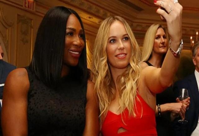 Serena Williams and Caroline Woznicki are great friends