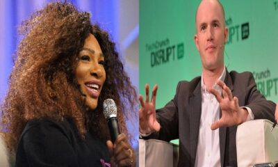 Serena Williams and Coinbase CEO Brian Armstrong