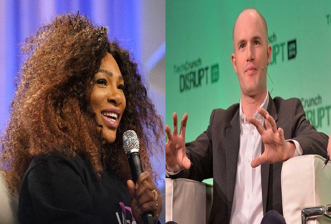 Serena Williams and Coinbase CEO Brian Armstrong