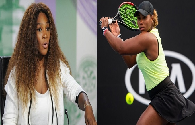 Serena Williams and Taylor Townsend