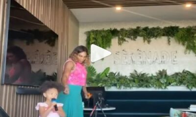 Serena Williams and olympia Singing
