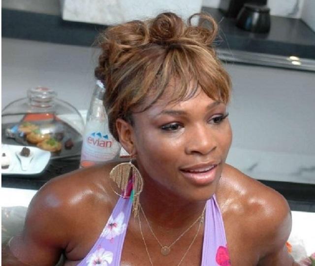 Serena Williams bikini bathtub