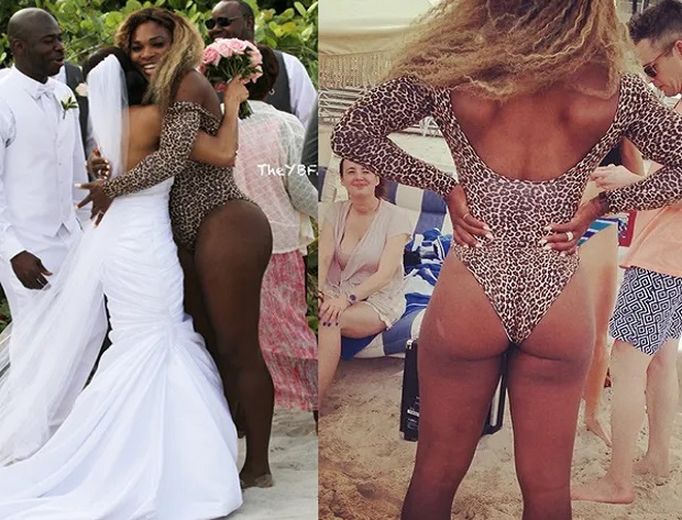 Serena Williams crashes wedding in her swimsuit on Miami Beach