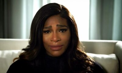 Serena Williams cries