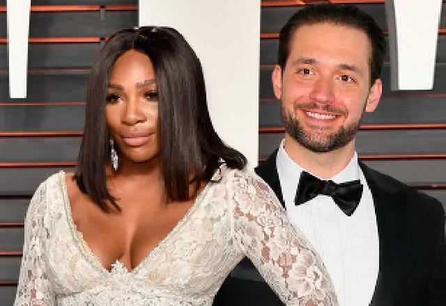 Serena Williams happy Alexis Ohanian