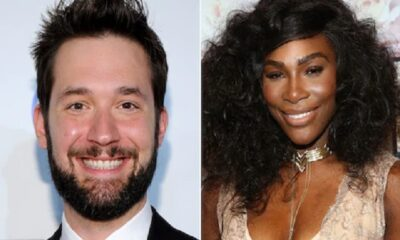 Serena Williams happy Alexis Ohanian