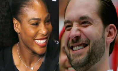 Serena Williams left and Alexis Ohanian