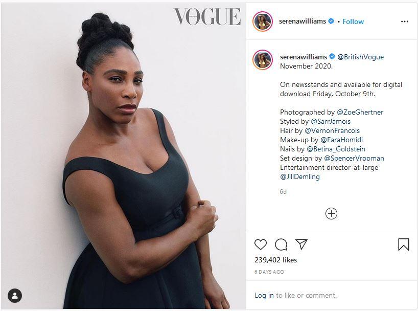 Serena Williams looks pregnant again