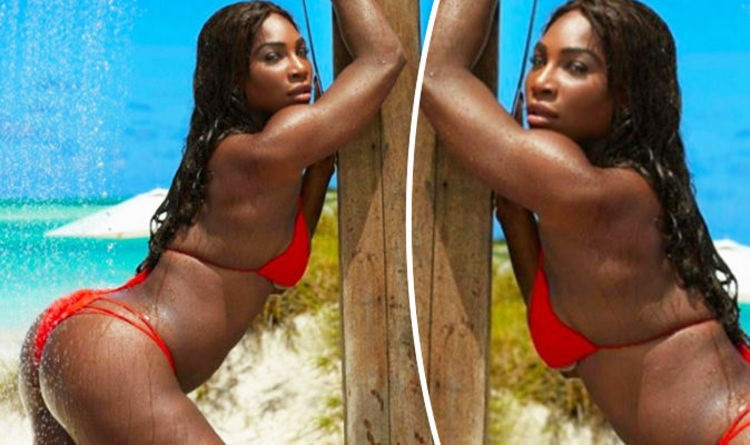 Serena Williams red bikini
