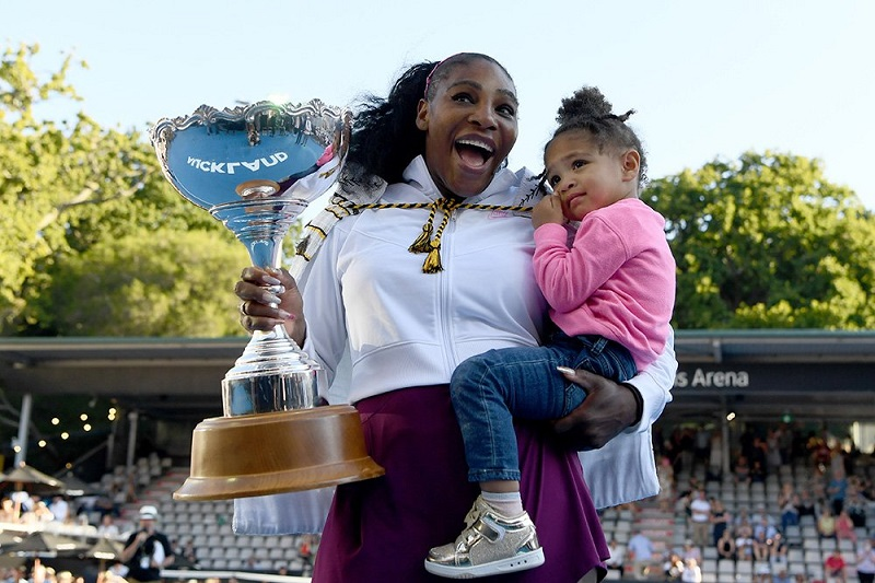 Serena Williams with Olympia Ohania