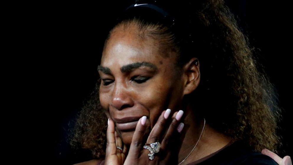 Serena williams cried