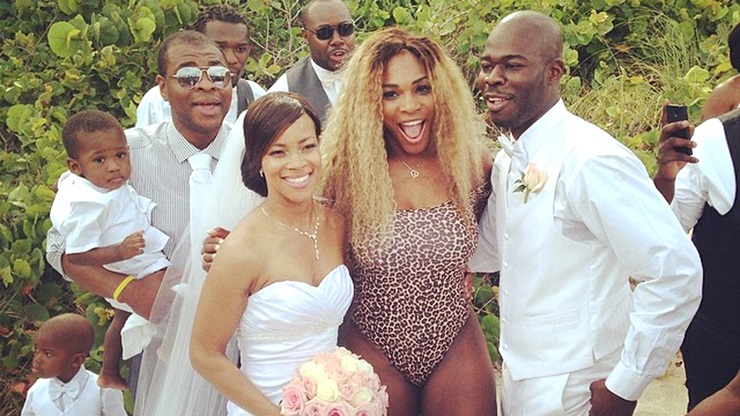 Tennis star Serena Williams sneaks into wedding