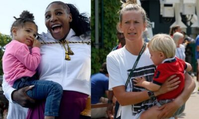 Victoria Azarenka and Serena Williams with their Children