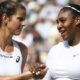 Julia Goerges and Serena Williams