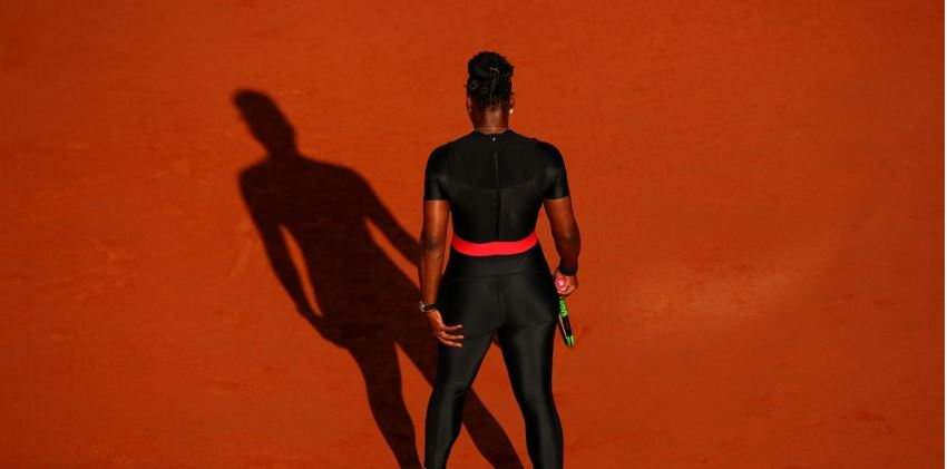 serena williams back