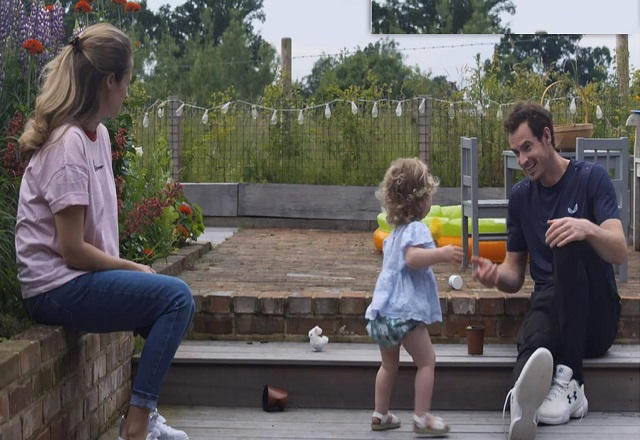 Andy Murray, Kim Sear and baby