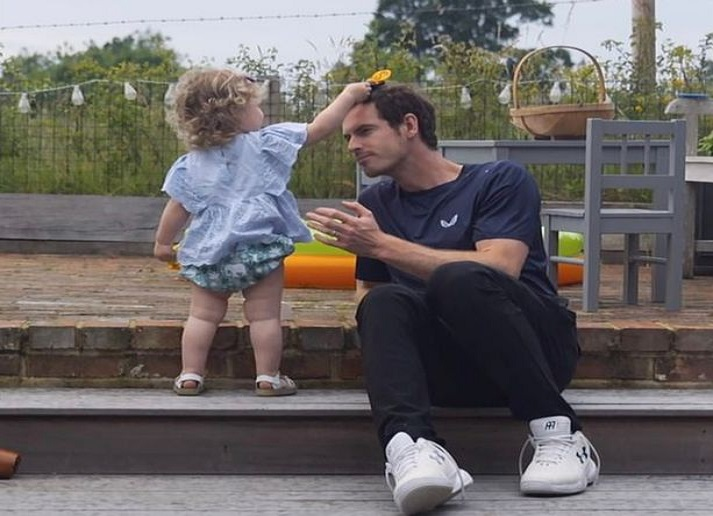 Andy Murray and kid