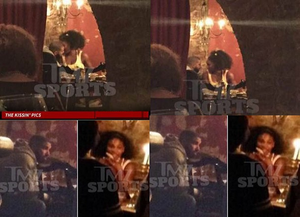 Drake and Serena Williams spotted kissing at the restaurant