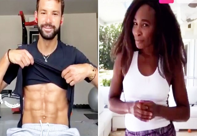 Grigor Dimitrov shows 6 pack abs to ex love Serena Williams