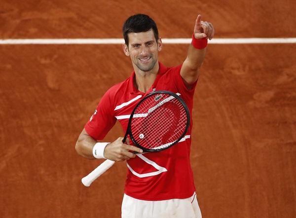 Novak Djokovic in red