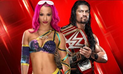 Roman Reigns and Sasha Banks