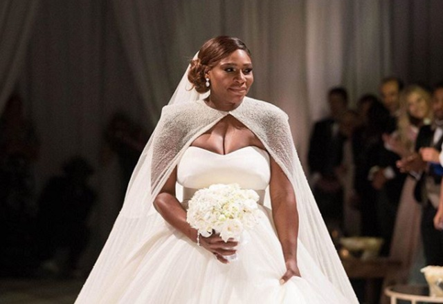 Serena Williams Wedding Dress Photo