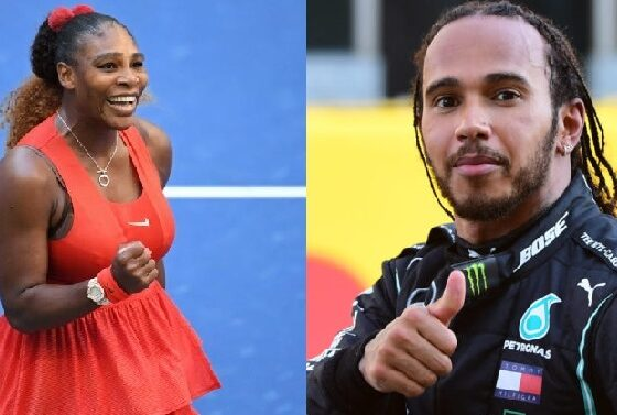 Serena Williams and Lewis Hamilton