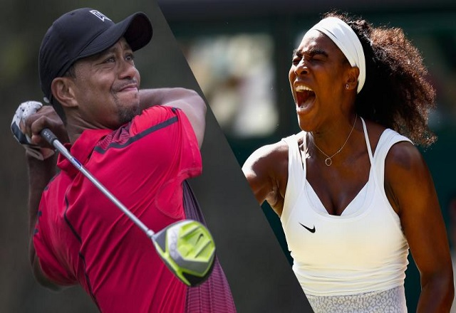 Tiger Woods, Serena Williams