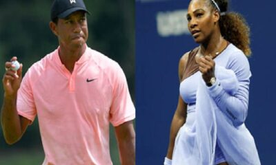 Tiger Woods(left) and Serena Williams (right)
