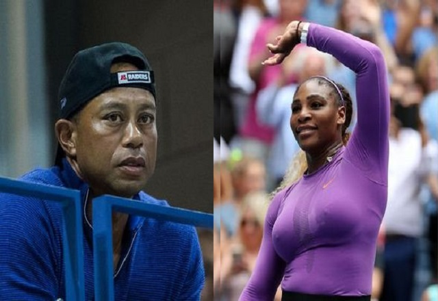 Why is Tiger Woods watching Serena Williams at US Open
