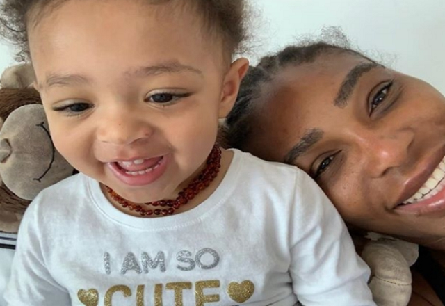 Serena and her pretty daughter