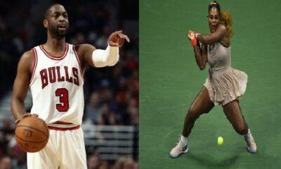 Dwayne Johnson and Serena Williams