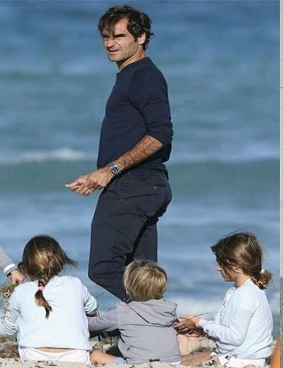 Roger Federer Spends Time With Family