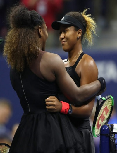 Serena Williams and Naomi OsakaSerena Williams and Naomi Osaka