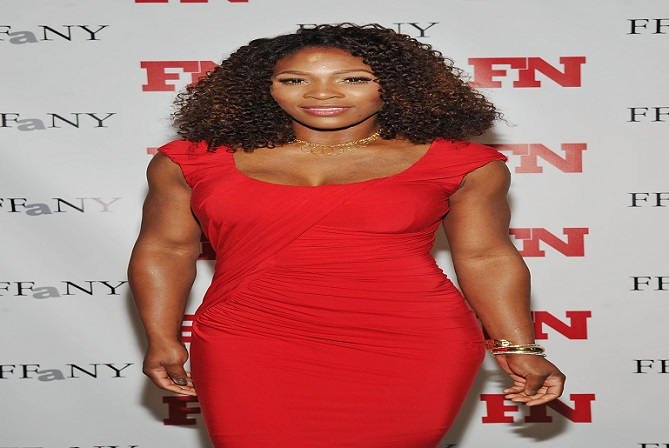 Serena Williams in Red Gown